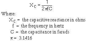 does capacitor reactance effect of frequency on capacitive reactance