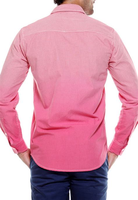 pink combination tog men dark light pink combination casual check shirt