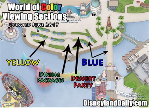 world of color sections world of color at california adventure disneyland daily