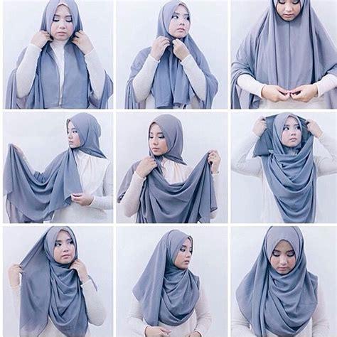 tutorial hijab pesta berlapis tutorial hijab syar i menutup dada untuk ke pesta