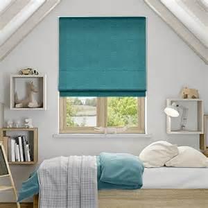 Purple And Teal Bedroom spectrum teal roman blind