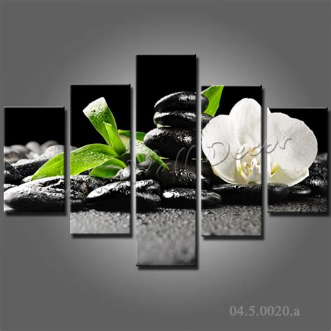 zen wall decor no frame canvas only 5 pieces 100x70cm wall pictures zen