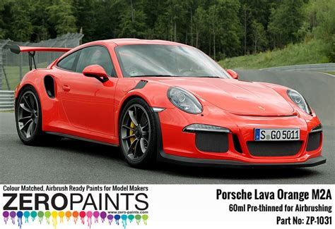 porsche orange paint code porsche paint 60ml zp 1031 zero paints