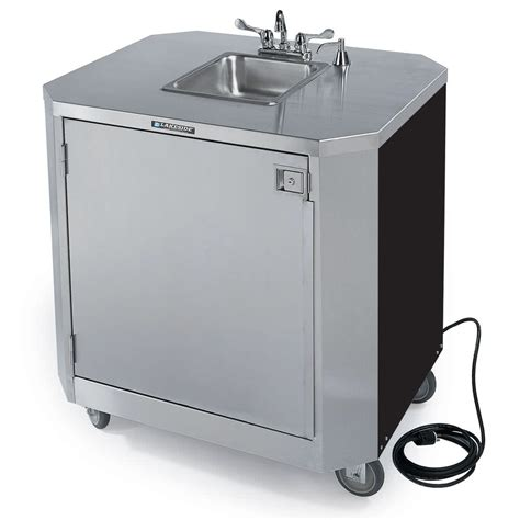 portable sinks with and cold water lakeside 9610 portable self contained stainless steel hand