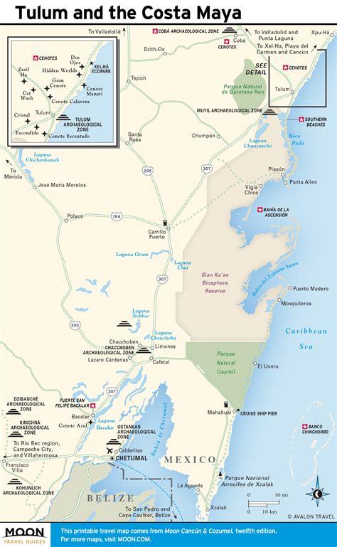 tulum mexico map printable travel maps of yucat 225 n peninsula moon