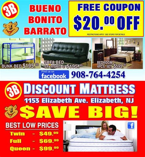 Cheap Mattresses Nj 3b discount mattress and furniture furniture stores