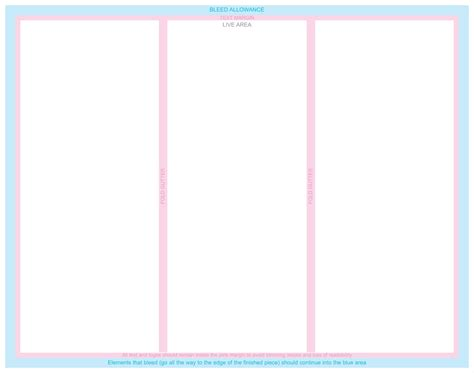 blank brochure template for word free blank tri fold template