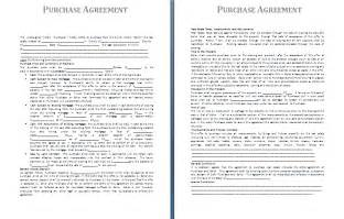 Purchase Agreement Template Free Purchase Agreement Template Free Agreement And Contract