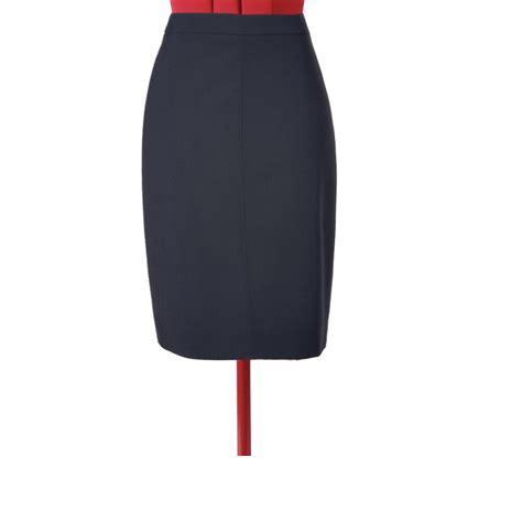 blue pencil skirt custom fit handmade fully lined