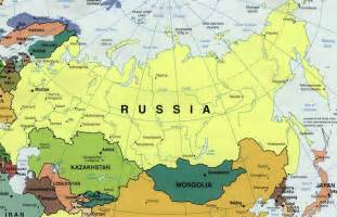 Outline Map Of Russia And Northern Eurasia by Russia And The Republics Physical Map