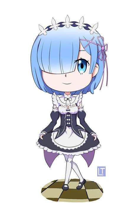 Kaos Rem Chibi Re Zero Hobiku Anime Store chibi rem re zero by hisagi taicho on deviantart
