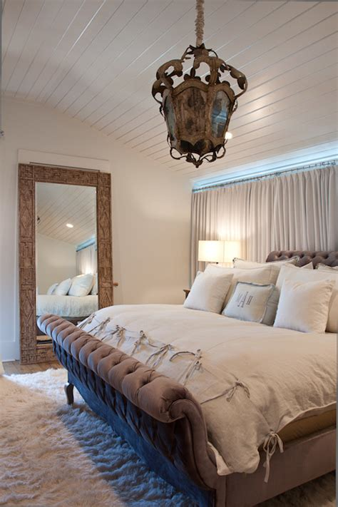 floor mirror in bedroom tufted sleigh bed cottage bedroom romair homes