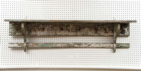rustic wall shelf with hooks at 1stdibs