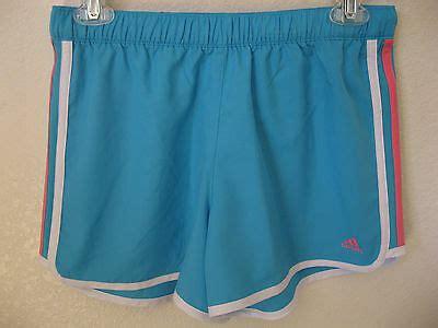 adidas girls shorts xl running light blue athletic gym beach idol short  usd