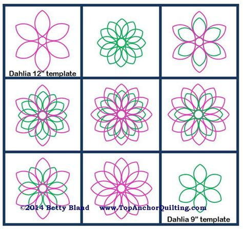 Dahlia Quilt Templates Patterns Topanchor Quilting Tools Motion Template Tool