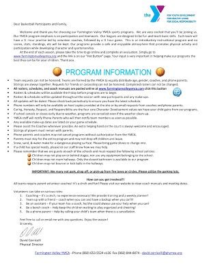 Parent Letter Basketball age 3 gr 2 basketball welcome letter farmington valley