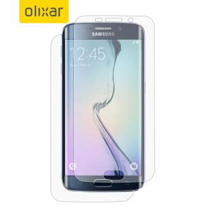 Screen Guard Samsung Galaxy S6 Edge Set Original Glare olixar samsung galaxy s6 edge front back screen protector pack