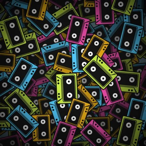 80s design design a stack of 80 s cassette tapes designbump