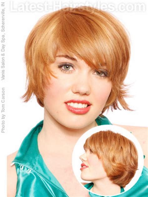 pretty hairstyles for a wide face short haircuts for round faces 2014
