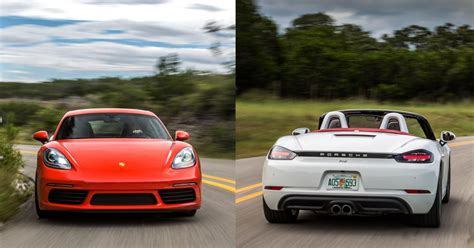Porsche Cayman Vs Boxster by Review 2017 Porsche 718 Boxster And Cayman First Drive