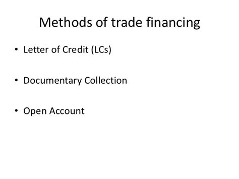 Letter Of Credit Number Meaning conventional trade financing slide