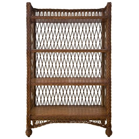 wicker bookcase at 1stdibs