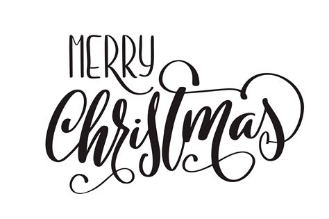 merry christmas vector calligraphic lettering text  design greeting cards holiday greeting