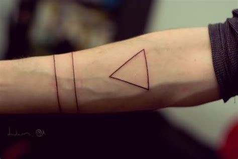 simple triangle tattoo 43 triangle tattoos on forearm