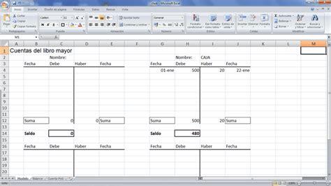tutorial excel contabilidad cuentas t contabilidad y excel