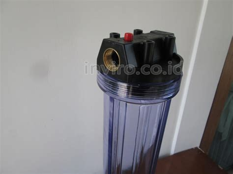 Housing Filter Air 20 Drat 1 housing filter ukuran 20 quot warna bening drat kuningan