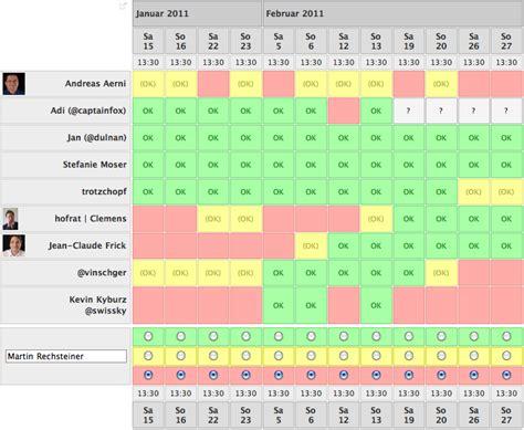 doodle umfrage tabletday termin steht 13 feburar 2011 pokipsie