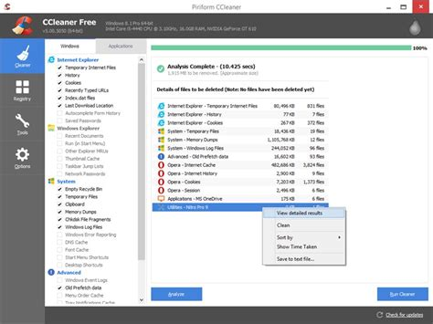 ccleaner zip ccleaner 5 43 6522 free download downloads freeware