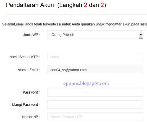 buat npwp pribadi secara online cara membuat npwp secara online info pns dan lowongan kerja
