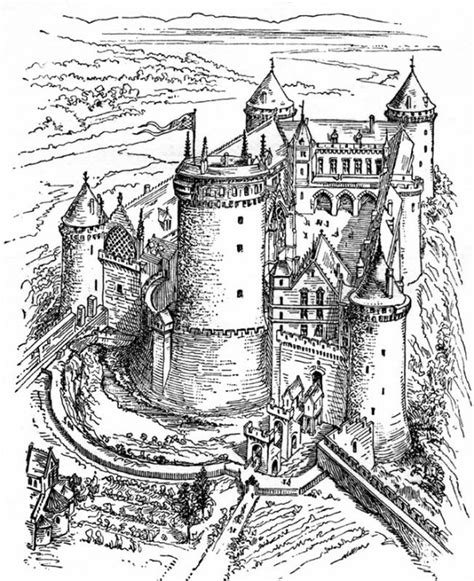 medieval castle coloring page free coloring pages of medieval town
