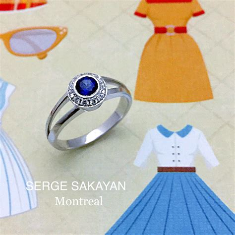 jewelry supplies montreal serge sakayan design 1 2 carat sapphire and halo