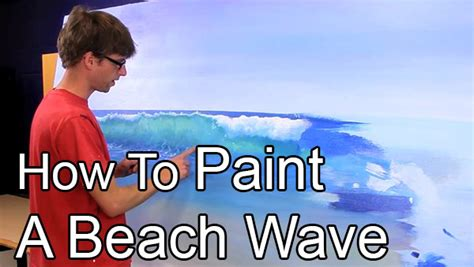 how to paint how to paint a beach wave learn with mural joe