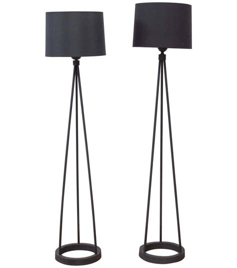black iron floor l black cast iron tripod floor l by robert bulmore for