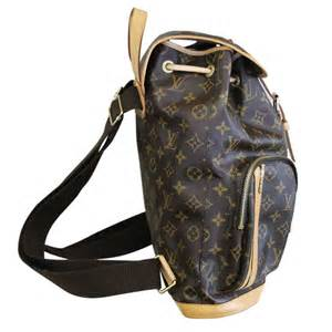Cowhide Leather Trim Louis Vuitton Sac A Dos Bosphore Monogram Canvas Backpack