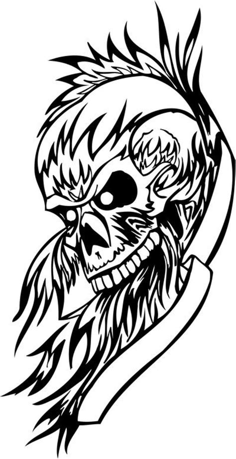bone collector deer skull coloring coloring pages