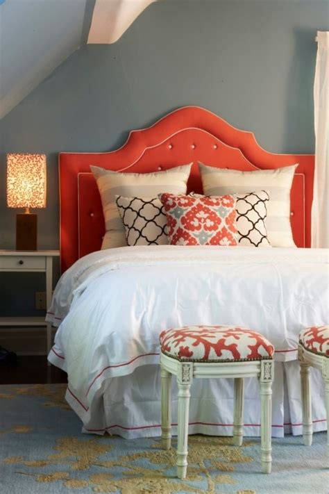 coral and grey bedroom bedroom colour trends 2014 by perfect headboards