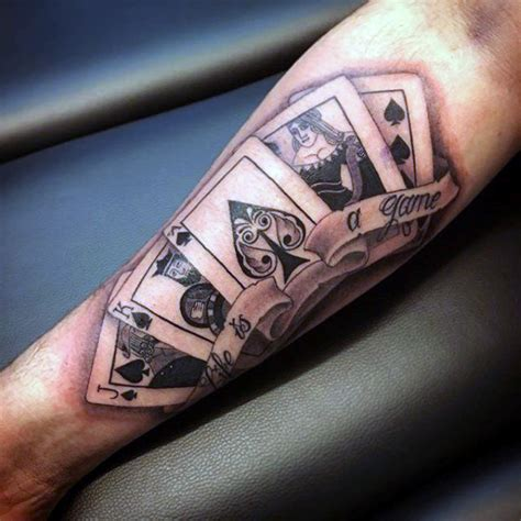 poker card tattoos designs 90 card tattoos for lucky design ideas