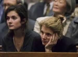 Caroline kennedy schlossberg r and her daughter rose listen during a