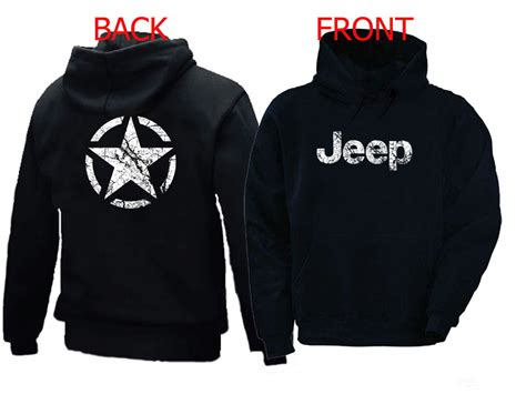 Jeep Hoodies Wwii Jeep Inspired Broken Distressed Vintage Look