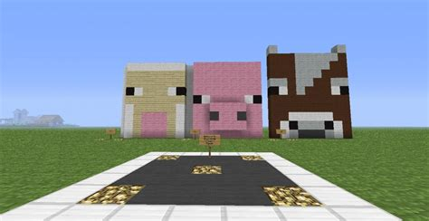 big animal faces minecraft project