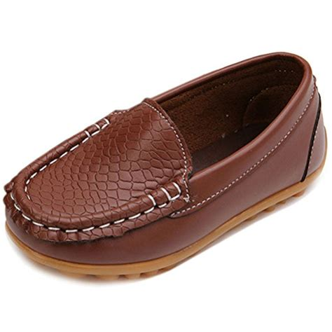 toddler brown loafers galleon femizee casual toddler kid boys loafers