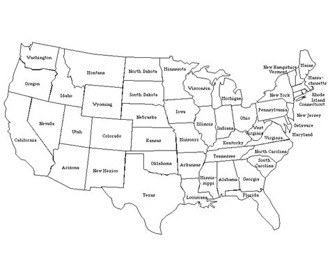 usa states map printable united states map labeled