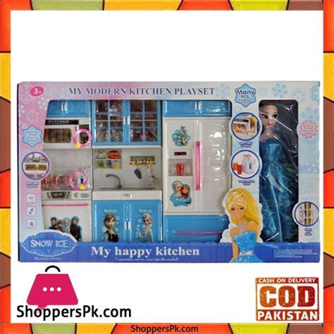 Mainan Kitchen Set Frozen With Doll buy princess frozen happy kitchen set with frozen doll at best price in pakistan