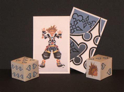 Papercraft Dice - sora card and dice papercraft by tektonten on deviantart