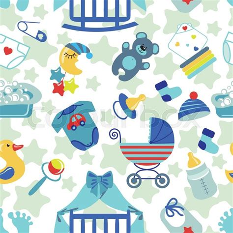 wallpaper cartoon baby cute newborn seamless pattern for baby boy baby shower