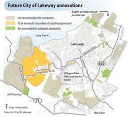 the city of lakeway tx annexing 1000 acres